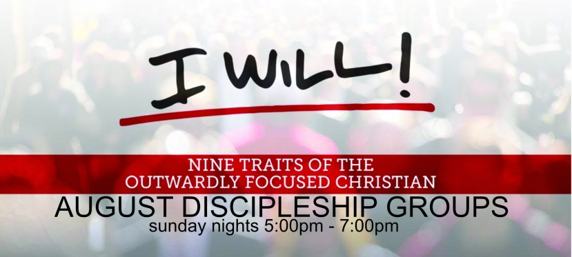 August Discipleship Groups